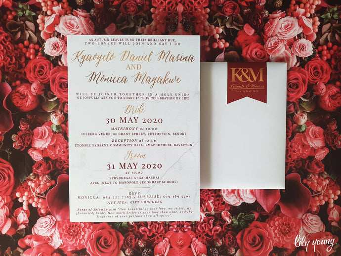 Monica Printed invite