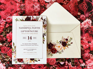 Nandipha Printed invite