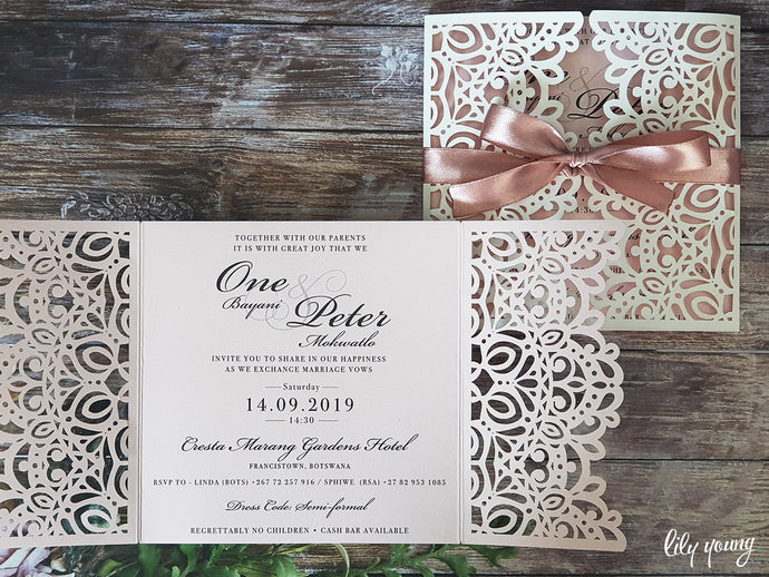 One Printed invite