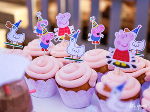 Peppa Pig Cupcake wrapper & topper - Pack of 12