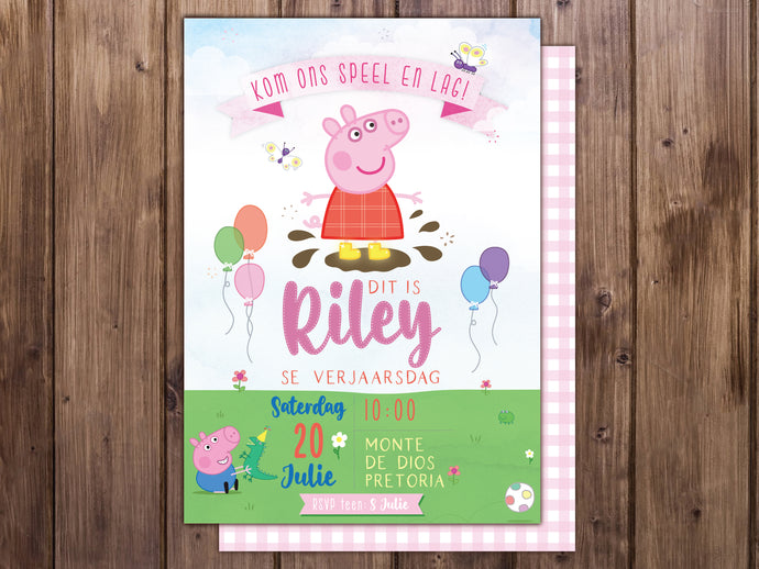 Peppa Pig E-Invitation