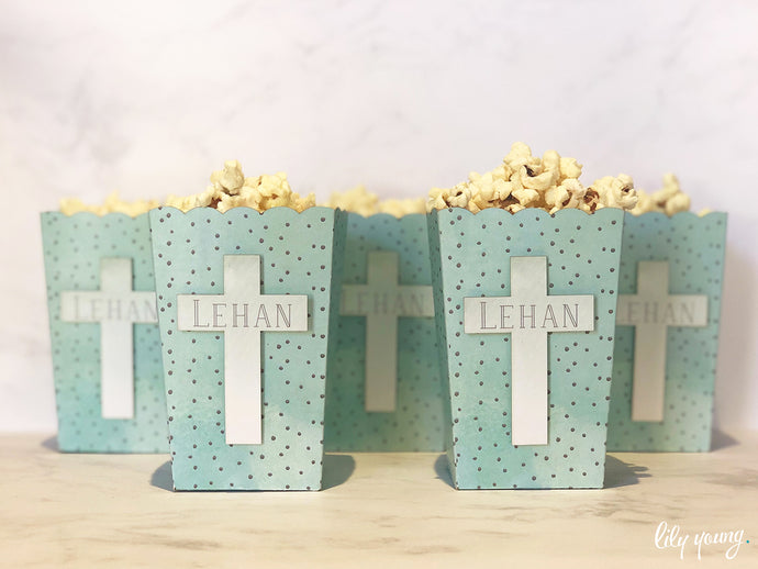 Boy Mint Popcorn Box - Pack of 12