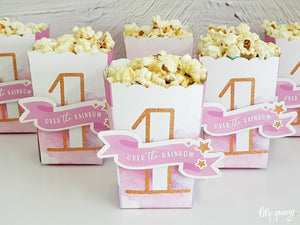 Rainbow Popcorn Box - Pack of 12
