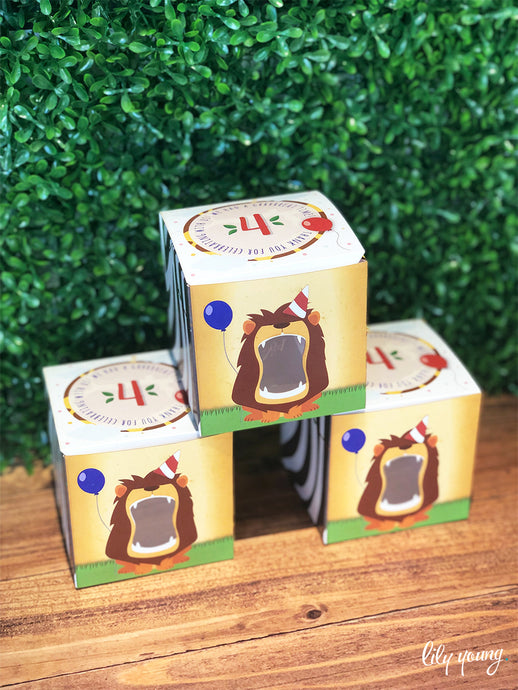 Safari Party Boxes - Pack of 12