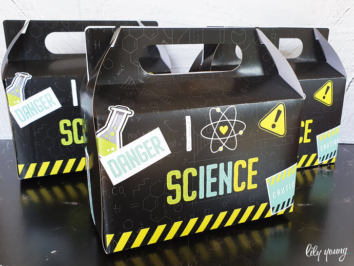 Science Party Boxes - Pack of 12