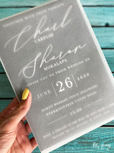 Sharon Printed invite