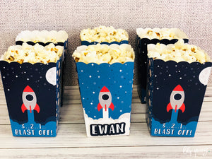 Space Popcorn Box - Pack of 12