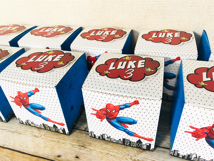Spider-Man Party Boxes - Pack of 12