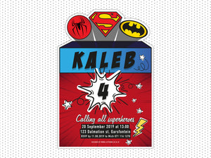 Superhero E-Invitation