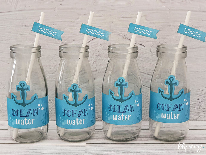Under the sea Labels set - Pack of 12