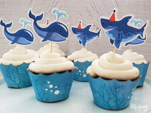 Under the sea Cupcake wrappers & toppers - Pack of 12
