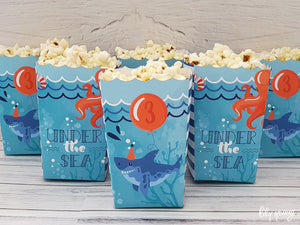 Under the sea Popcorn Box - Pack of 12