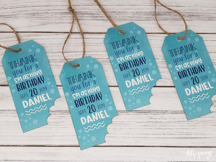 Under the sea Thank you tags - Pack of 12