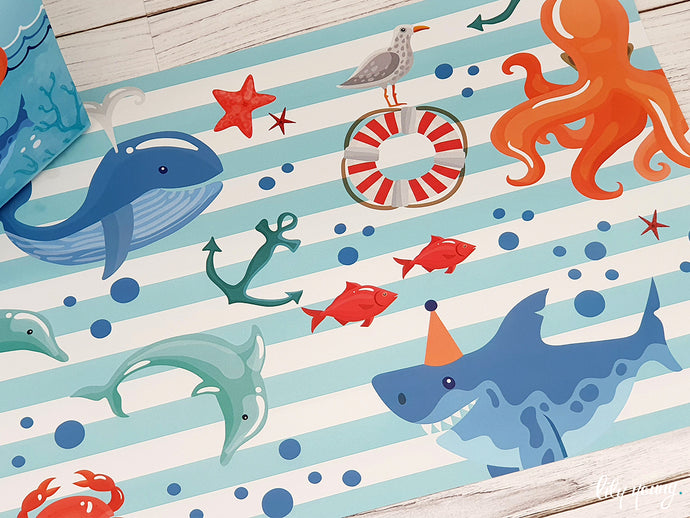 Under the sea Under plates - Pack of 12