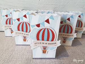 Up, up & away Boy Popcorn box - Pack of 12