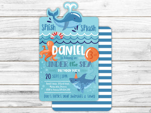 Under the sea E-Invitation