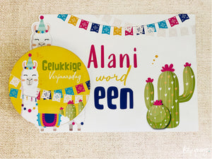 Llama Underplate & Plate Sticker - Pack of 12
