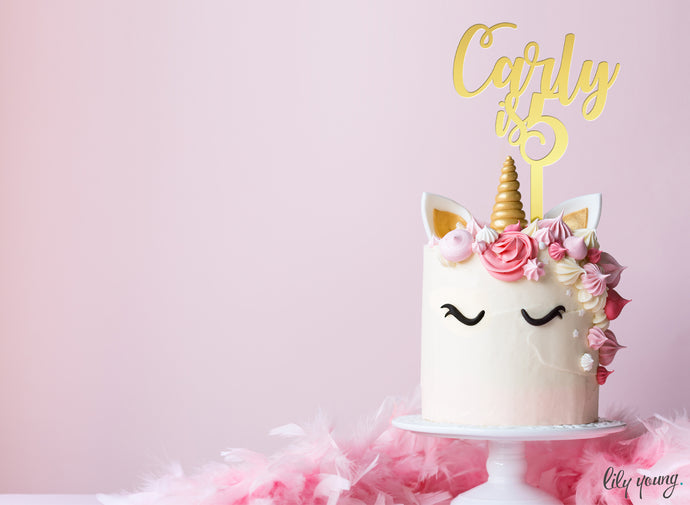 Unicorn Cake topper - Pack of 1