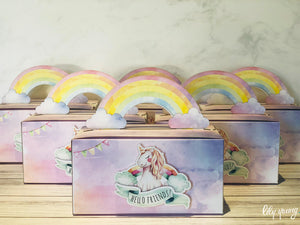 Small Unicorn Party Boxes - Pack of 12