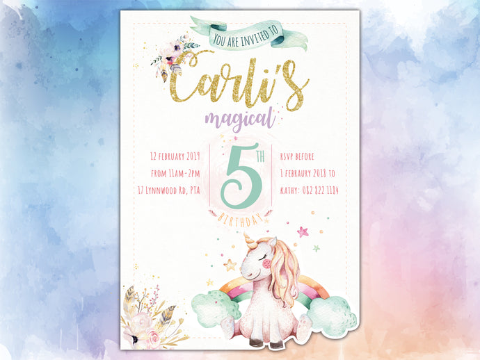 Unicorn E-Invitation