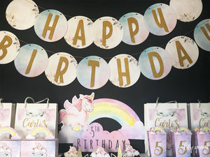 Unicorn Birthday Bunting 2m