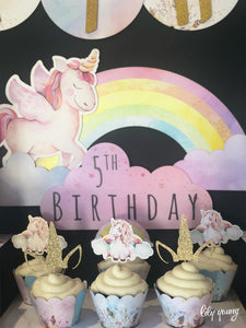 Unicorn Party Welcome sign - Pack of 1