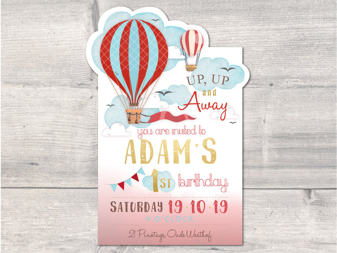 Up, Up & Away Boy E-Invitation