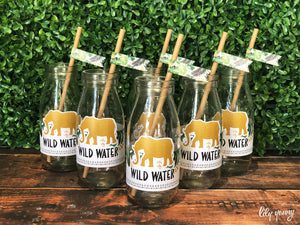 Wild One Bottle labels - Pack of 12