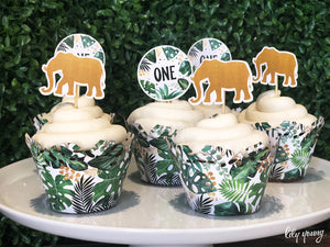 Wild One Cupcake wrapper & topper - Pack of 12