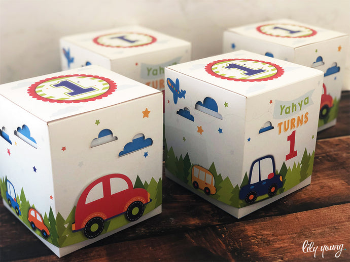 Baby Cars Party Boxes - Pack of 12