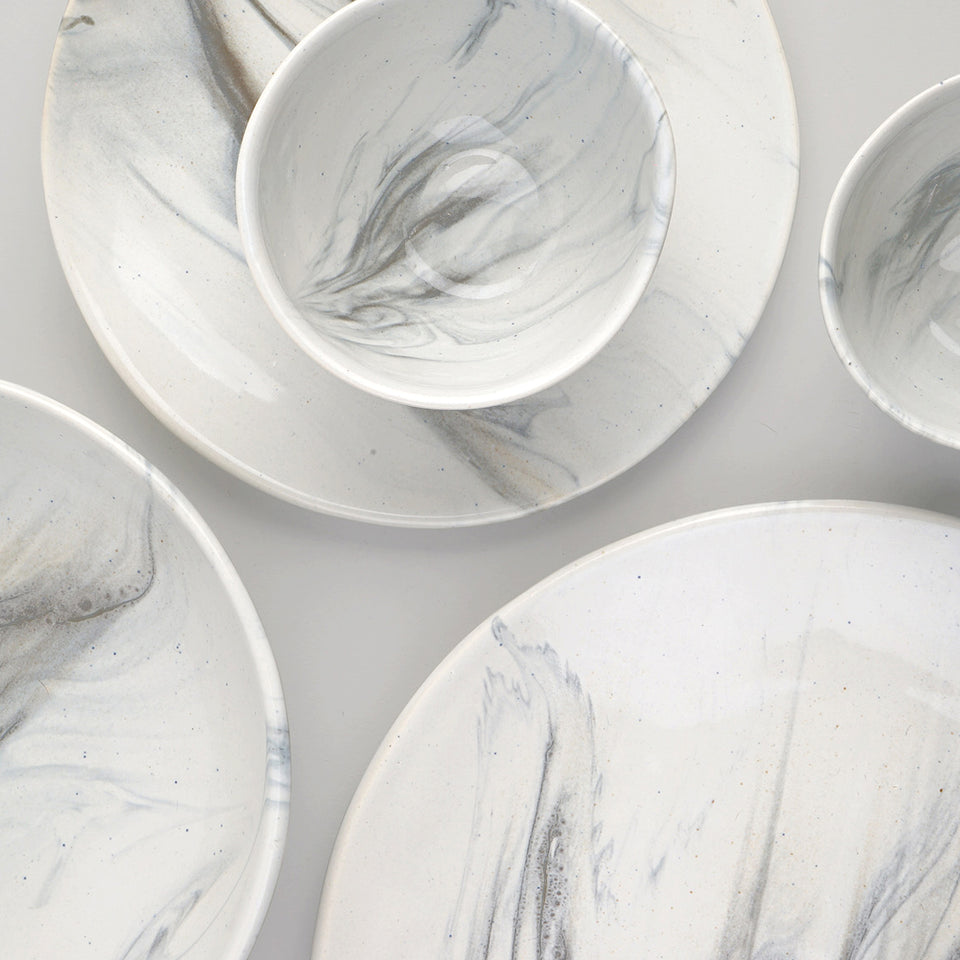 The Confluence Dinner Set of 4 <span><br> Monsoon Grey </span>