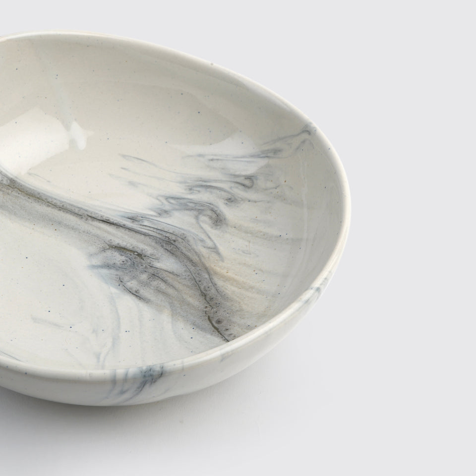The Confluence Serving Bowl <span><br> Monsoon Grey </span>