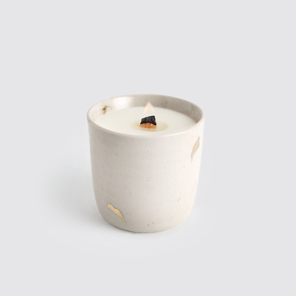The Ganga Kulhar Candle <span><br> Beige </span>