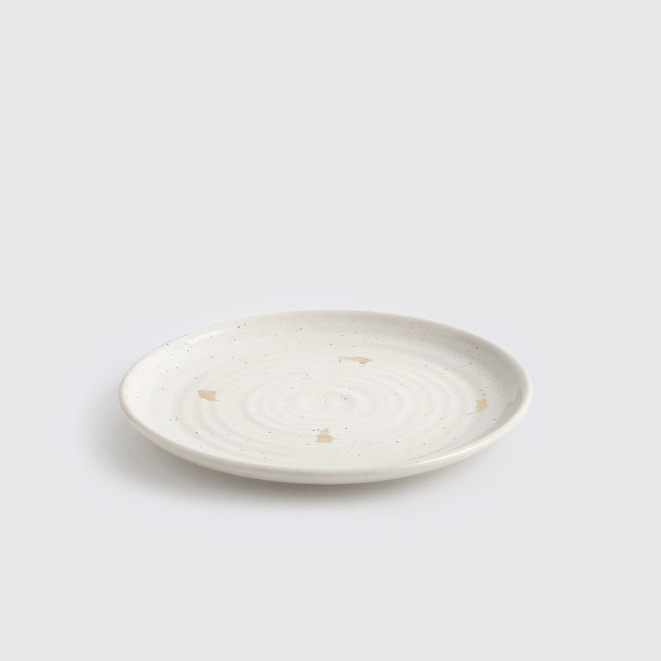 The Ganga Quarter Plate <span><br> Ivory </span>