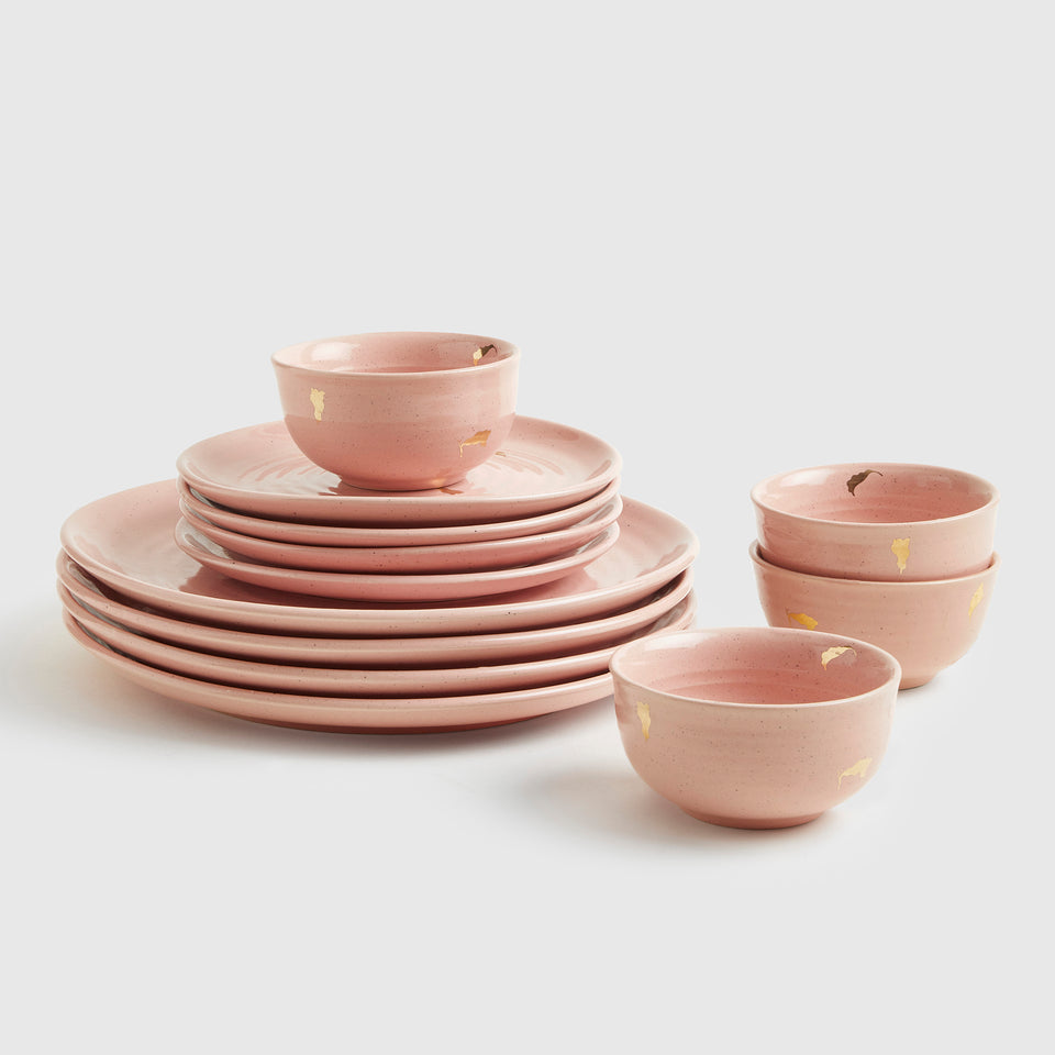 Ganga Dinner Set of 4 <span><br> Old Rose </span>