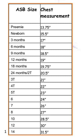 candy pocket tee size chart
