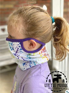 Neck Gaiter - Ear Loop Face Covering - child to adult sizes