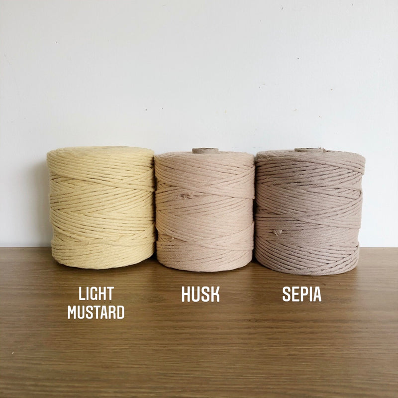 HUSK Coloured Macrame Cord 4mm 1kg