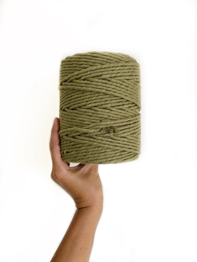 KHAKI Coloured Macrame Cord 6mm 1kg