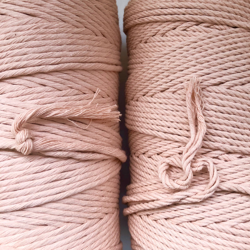 """PEACHY PINK"" Coloured Macrame Cord 4mm 1kg"