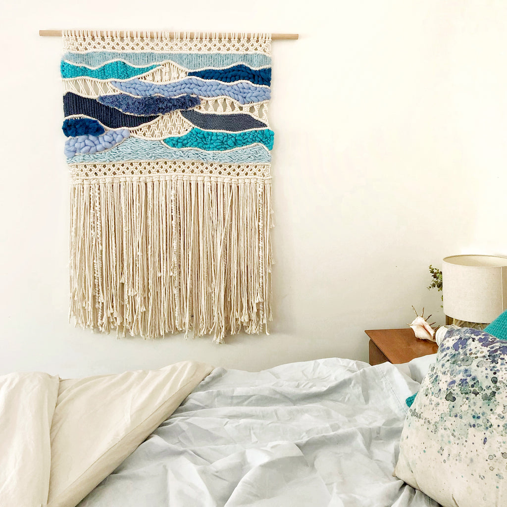 OPEN OCEAN Macrame + Weaving Tapestry