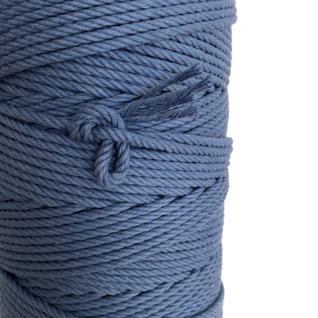 """OCEAN BLUE"" Coloured Macrame Cord 4mm 1kg"