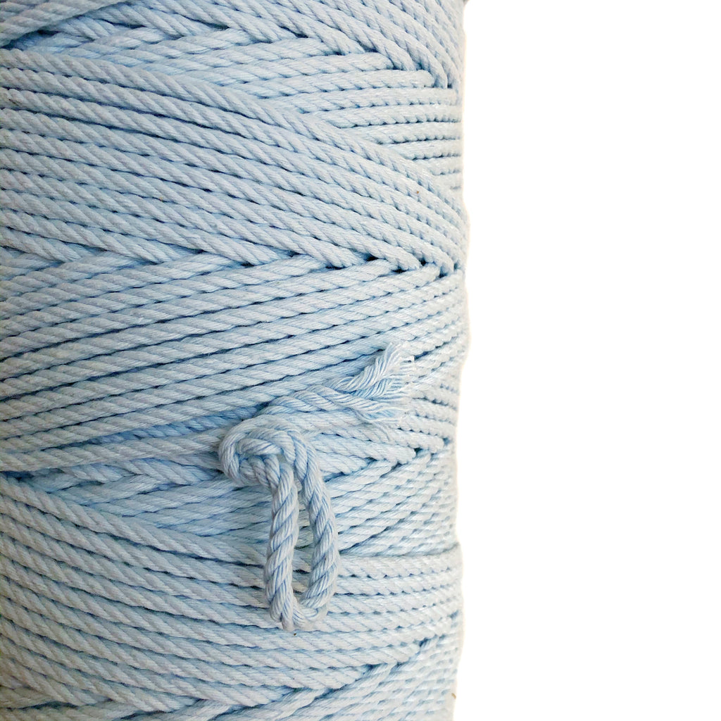 """BABY BLUE"" Coloured Macrame Cord 4mm 1kg"