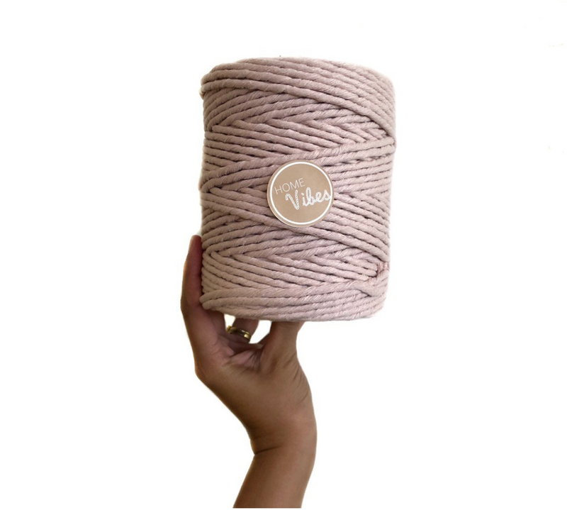 BLUSH Coloured Macrame Cord 6mm 1kg