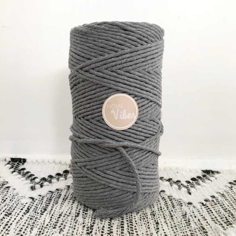 GREY ASH Coloured Macrame Cord 4mm 1kg