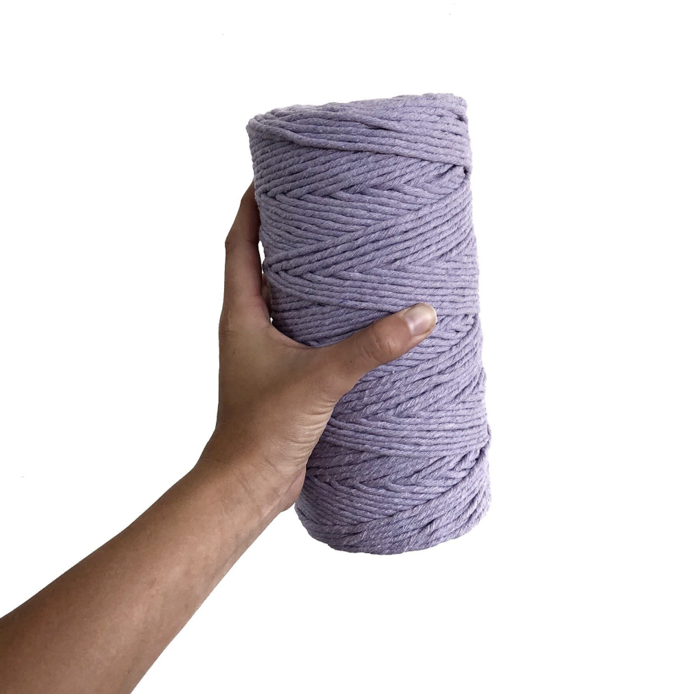 LAVENDER Coloured Macrame Cord 4mm 1kg