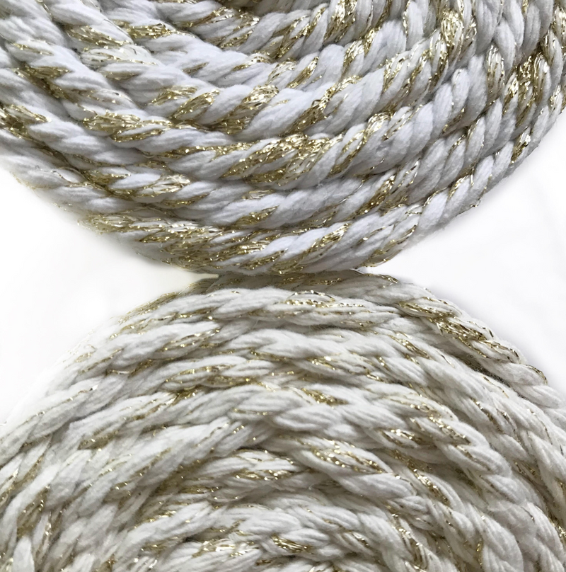 WHITE GOLD Macrame Cord 4mm 100m