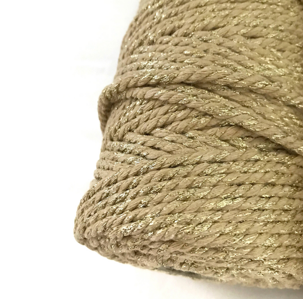 GOLD Macrame Cord 4mm 100m