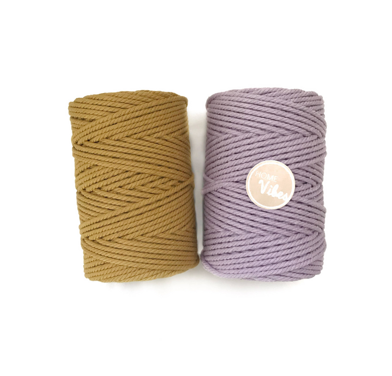 MUSTARD Coloured Macrame Cord 4mm 100m