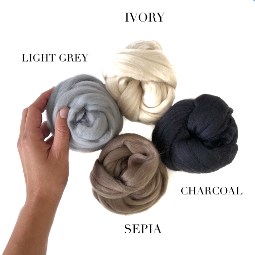 Wool Roving (18 colours)